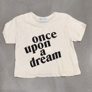 Wildfox Once Upon A Dream Oatmeal Tee